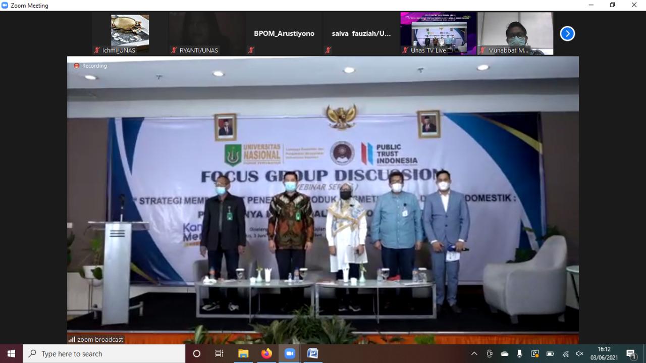 "FGD PKSP FISIP Bicara tentang ""Strategi Memperkuat Penetrasi Produk Kosmestik Lokal di  Pasar Domestik: Pentingnya Pengendalian Impor Kosmetik"""